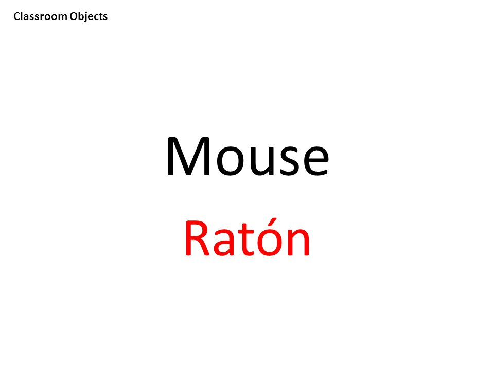 Classroom Objects Mouse Ratón