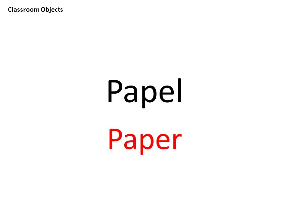 Classroom Objects Papel Paper