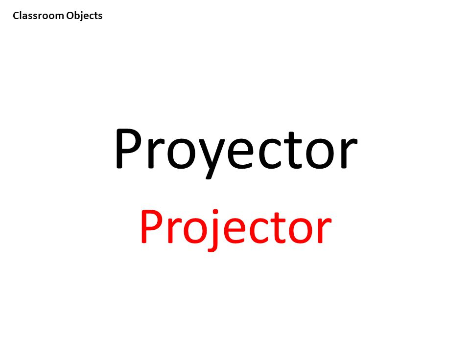 Classroom Objects Proyector Projector