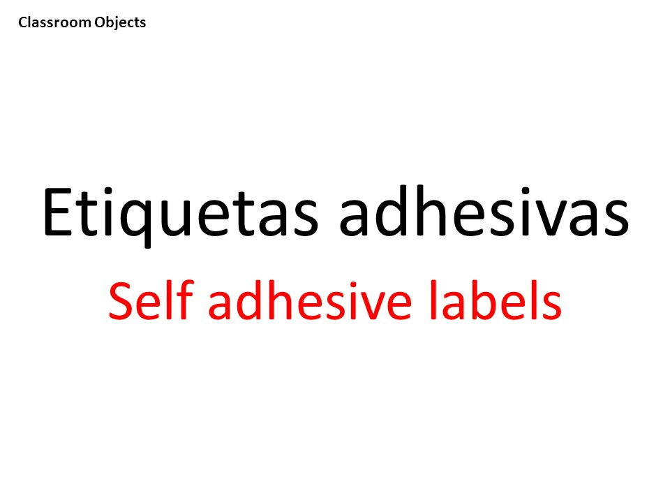 Classroom Objects Etiquetas adhesivas Self adhesive labels