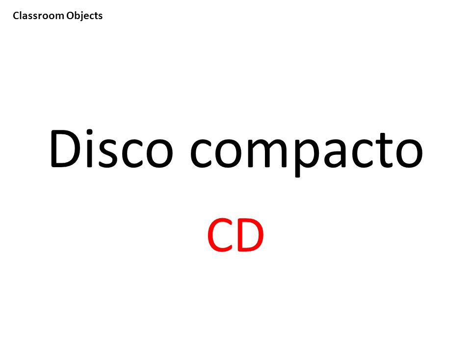 Classroom Objects Disco compacto CD