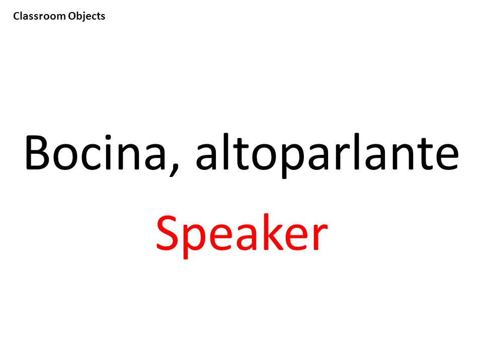 Classroom Objects Bocina, altoparlante Speaker