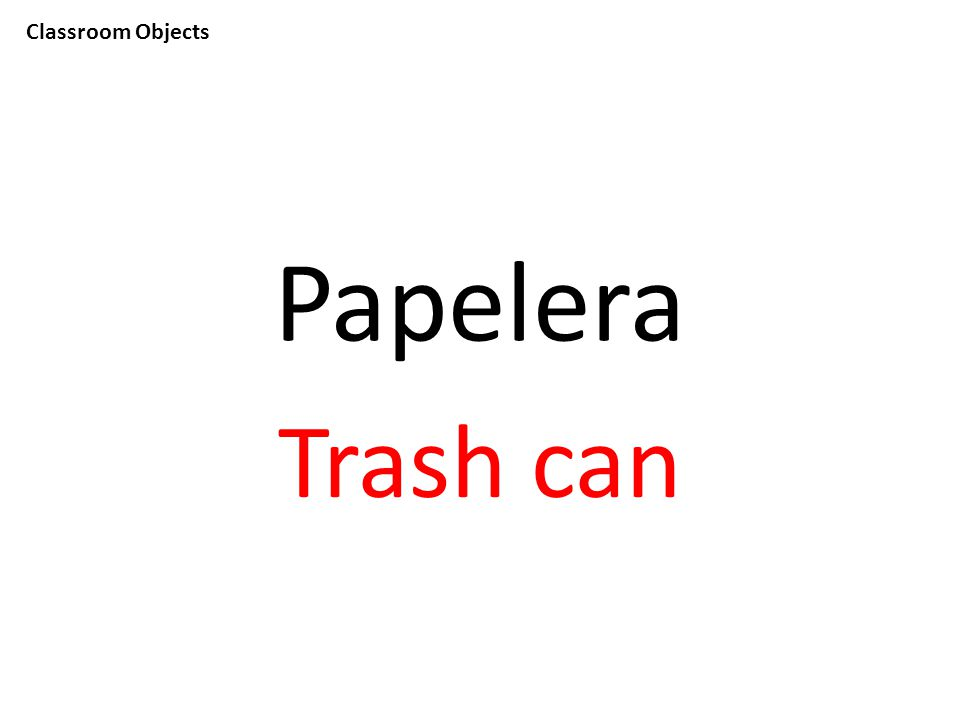 Classroom Objects Papelera Trash can