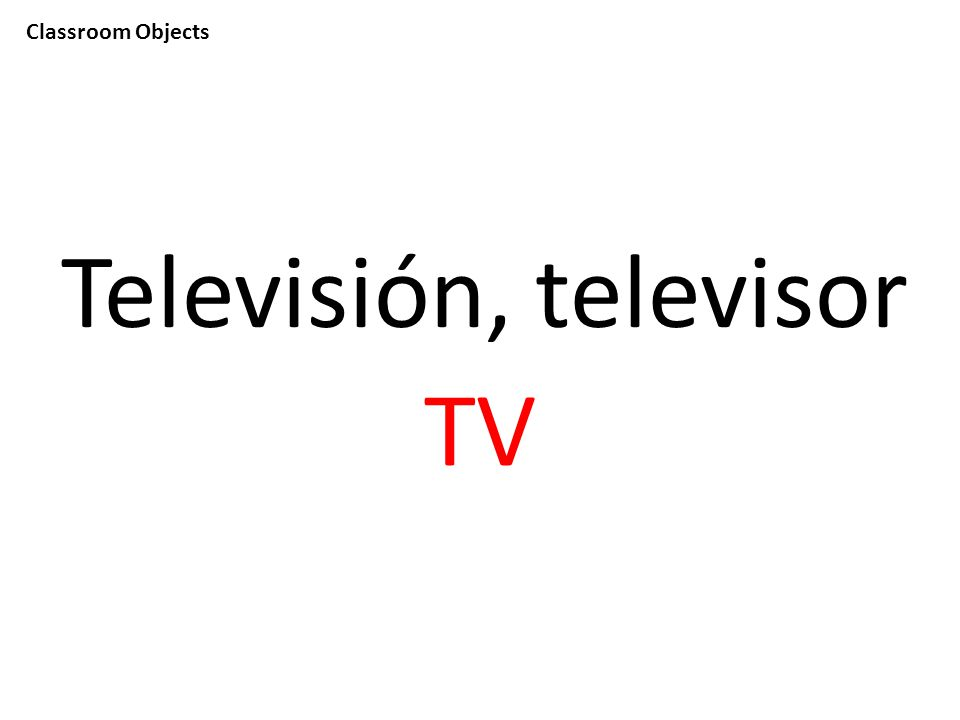 Classroom Objects Televisión, televisor TV