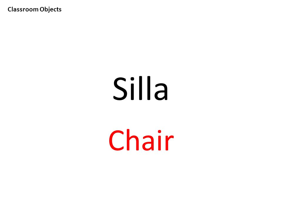Classroom Objects Silla Chair