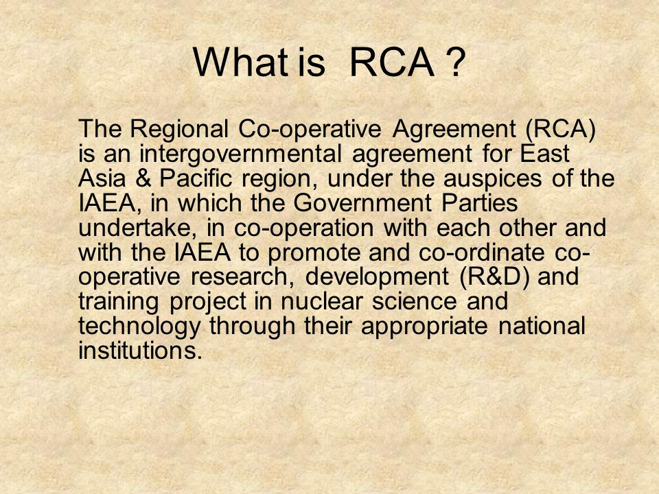 What is RCA .