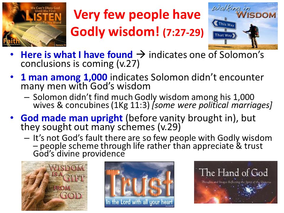 God's wisdom improves your life! Thank God for His help! Benefits from Daily Bible Readings!