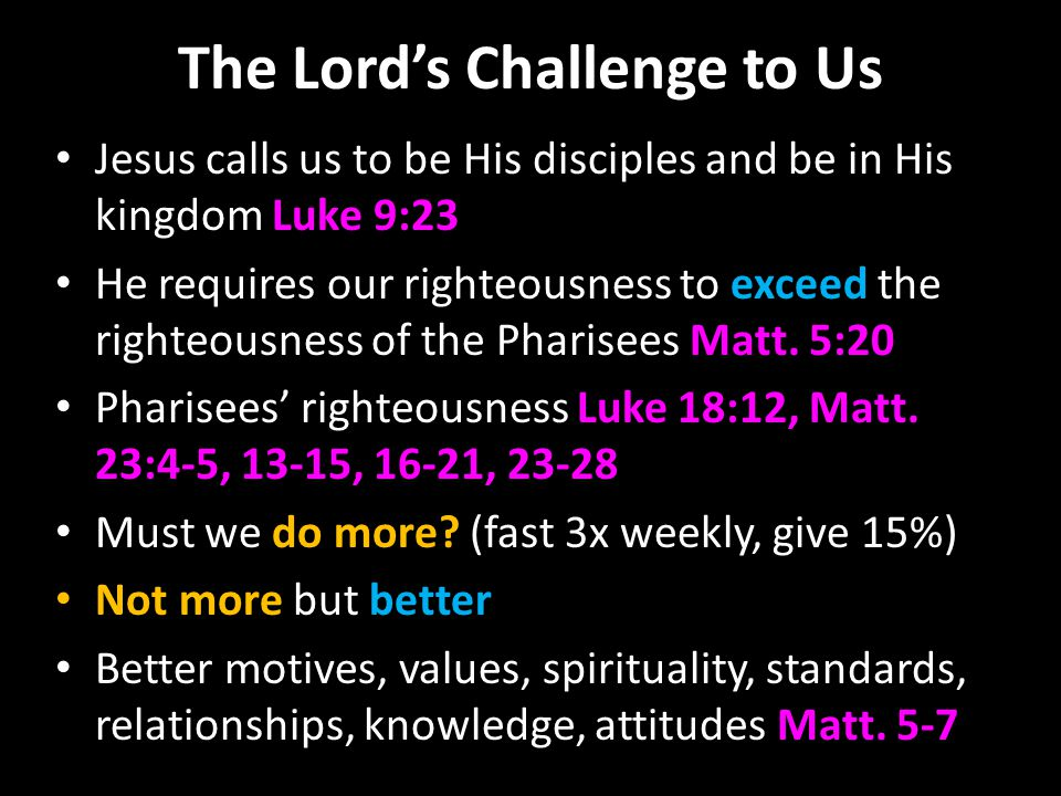 The Lord's Challenge to Us The heart of the matter 5:21-48 Anger, slander, etc.