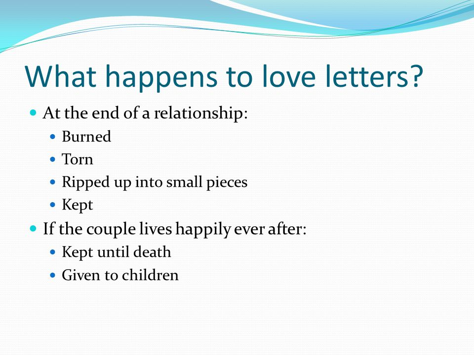 What happens to love letters.