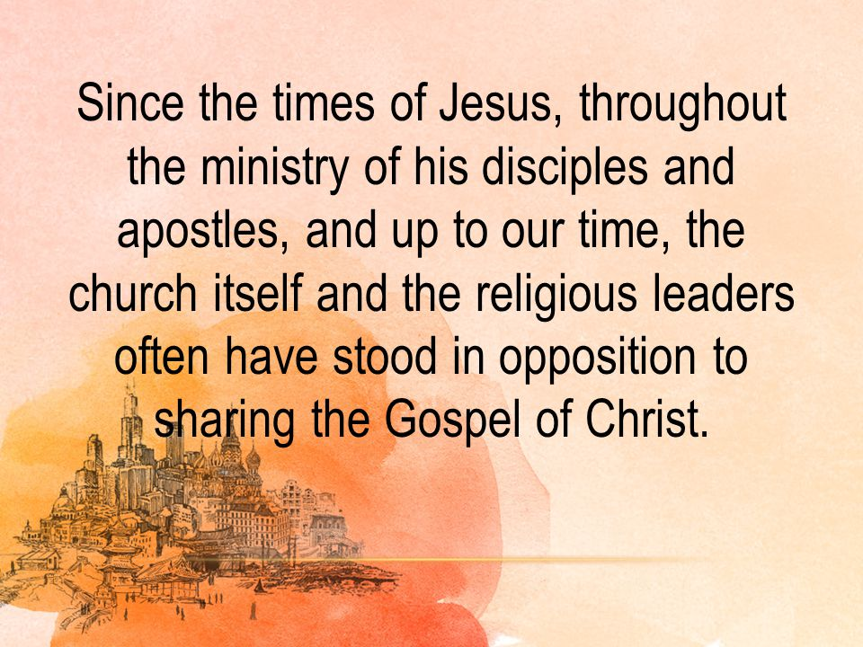 BOUNDARIES TO EMBRACE OTHERS WITH THE GOSPEL OF CHRIST BEYOND OUR REGIONS: The boundary of comfort and greed The boundary of comfort and greed The boundary of compliance and routine The boundary of compliance and routine The boundary of the past and the guilt The boundary of the past and the guilt The boundary of criticism and opposition The boundary of criticism and opposition The boundary of mistrust and fear of the unknown The boundary of mistrust and fear of the unknown The boundary of prejudice The boundary of prejudice The boundary of fear of failure The boundary of fear of failure