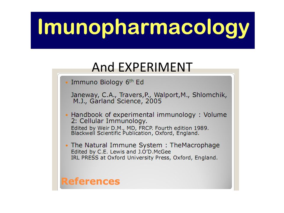 IMMUNOBIOLOGY And EXPERIMENT