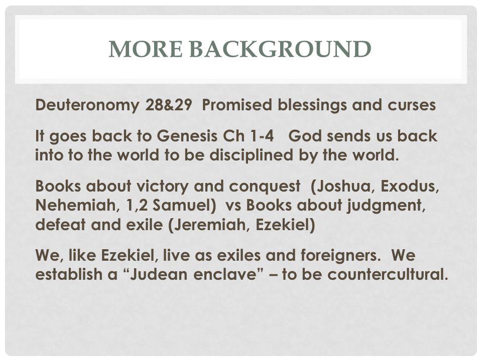 EZEKIEL OUTLINE I.Ezek Ch 1-24 Jerusalem must fall.