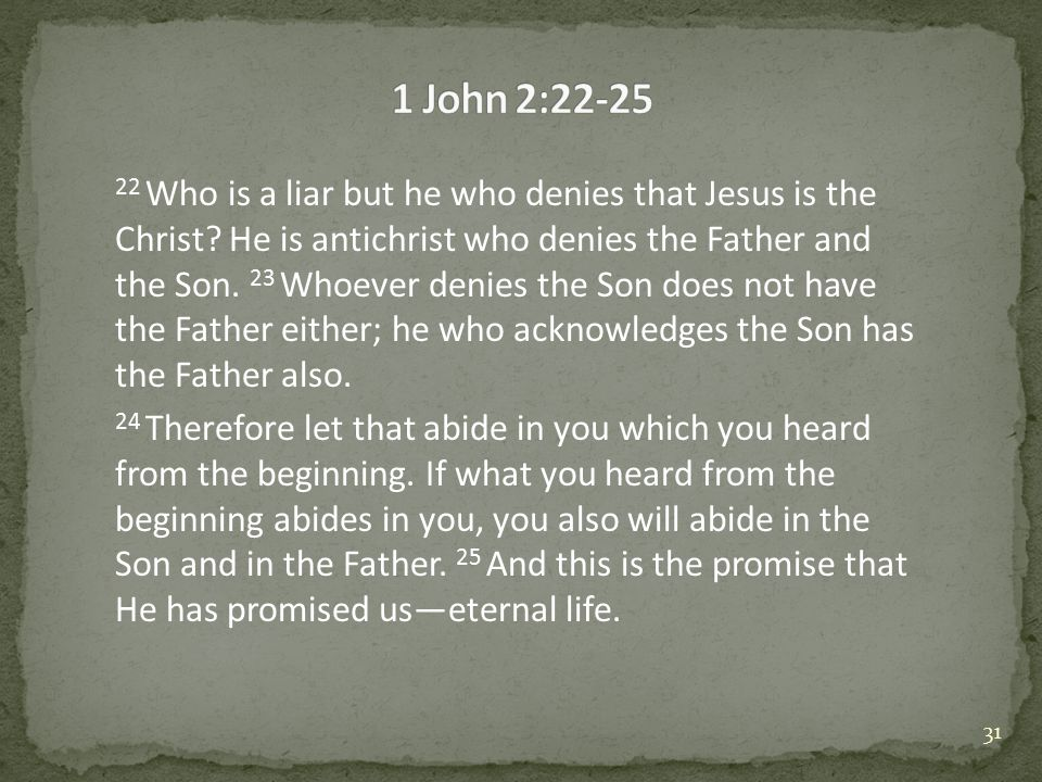 22 Who is a liar but he who denies that Jesus is the Christ.