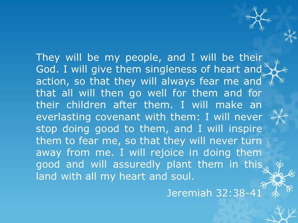 They will be my people, and I will be their God.
