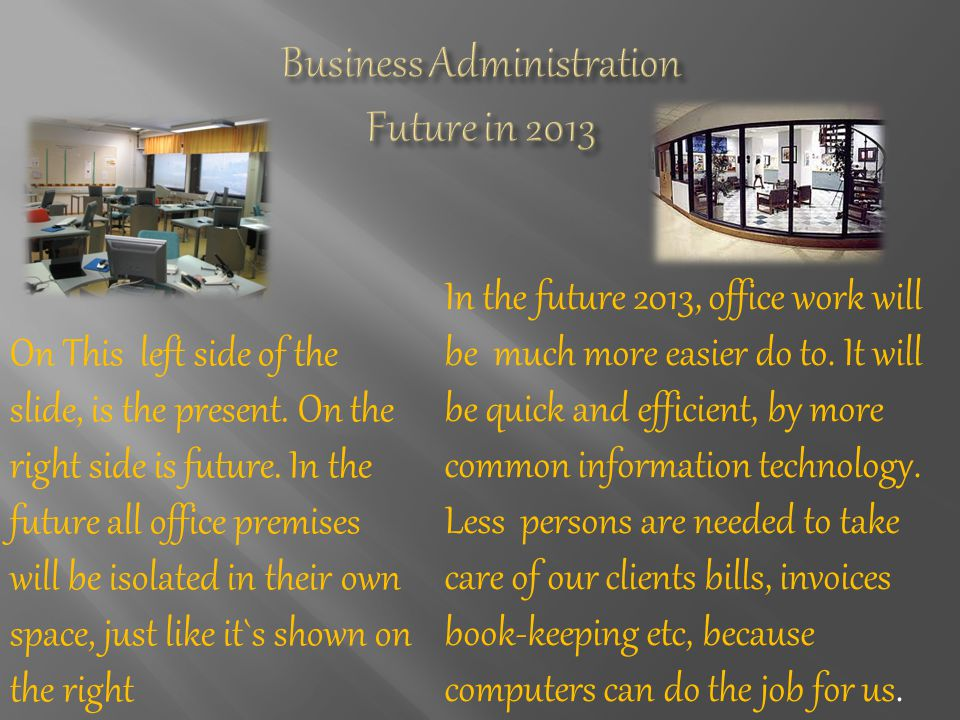 In the future 2013, office work will be much more easier do to.