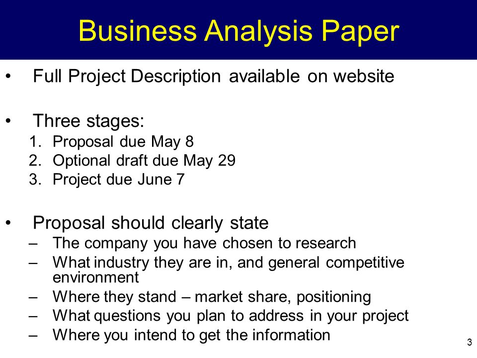 business analysis paper Business analysis is a research discipline of identifying business needs and determining solutions to business problems solutions often include a software-systems.