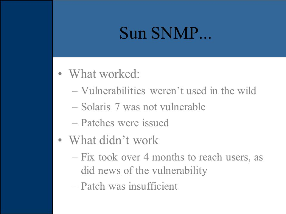 Sun SNMP...