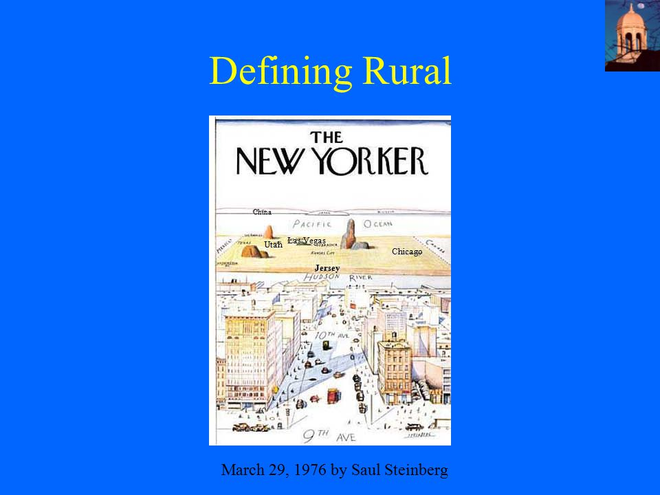 Defining Rural March 29, 1976 by Saul Steinberg Chicago Utah China Jersey Las Vegas
