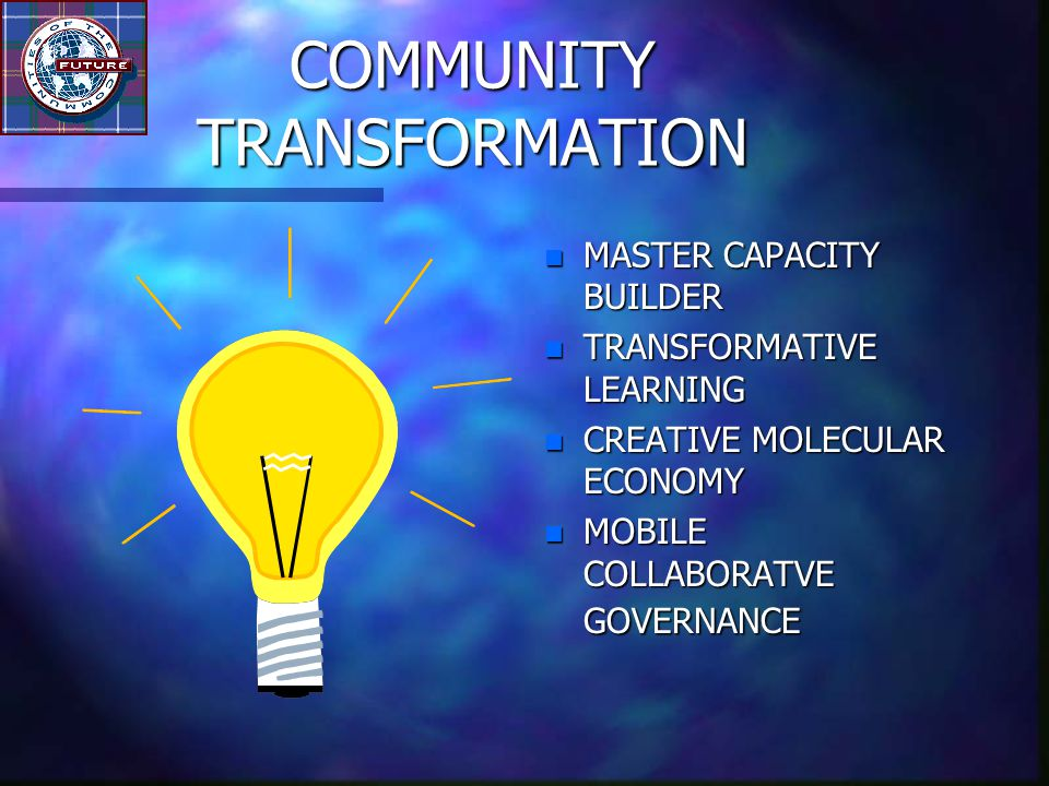 LEADERSHIP IN TRANSFORMATION n FROM REFORM TO TRANSFORM n CAPACITIES FOR TRANSFORMATION n USE OF INDIRECT METHODS n EITHER/OR TO AND/BOTH