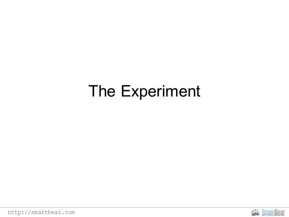 http://smartbear.com The Experiment