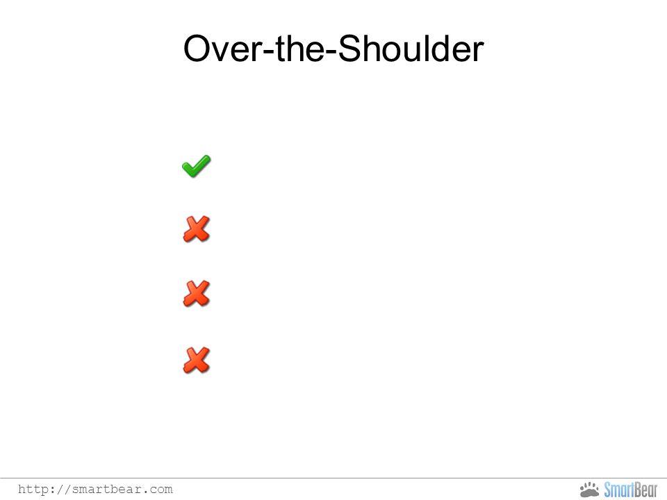 http://smartbear.com Over-the-Shoulder Easy, Free Interruption No info Walk-through