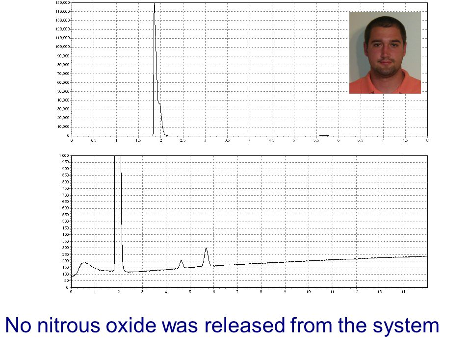 No nitrous oxide was released from the system
