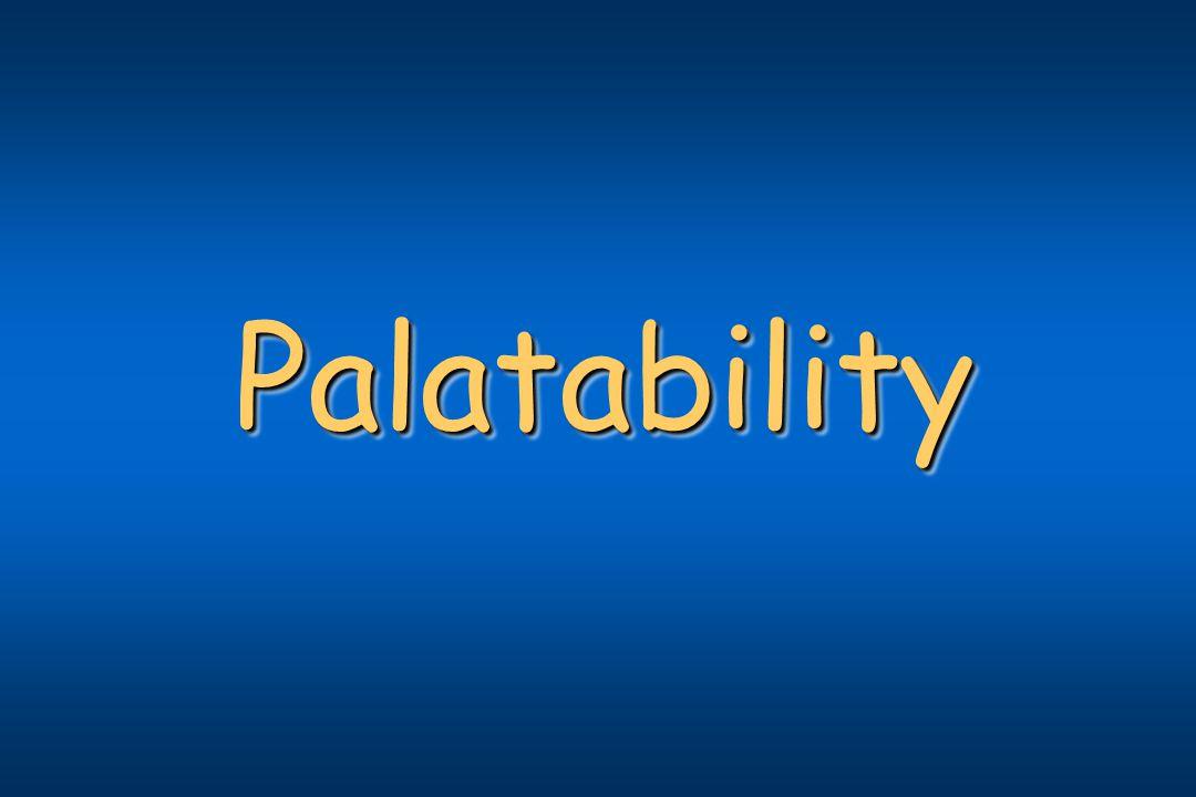 PalatabilityPalatability