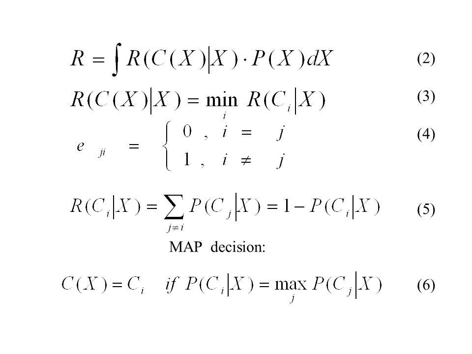 (2) (3) (4) (5) MAP decision: (6)