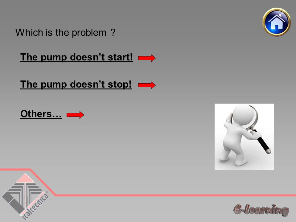 Which is the problem ? The pump doesn't start! The pump doesn't stop! Others…