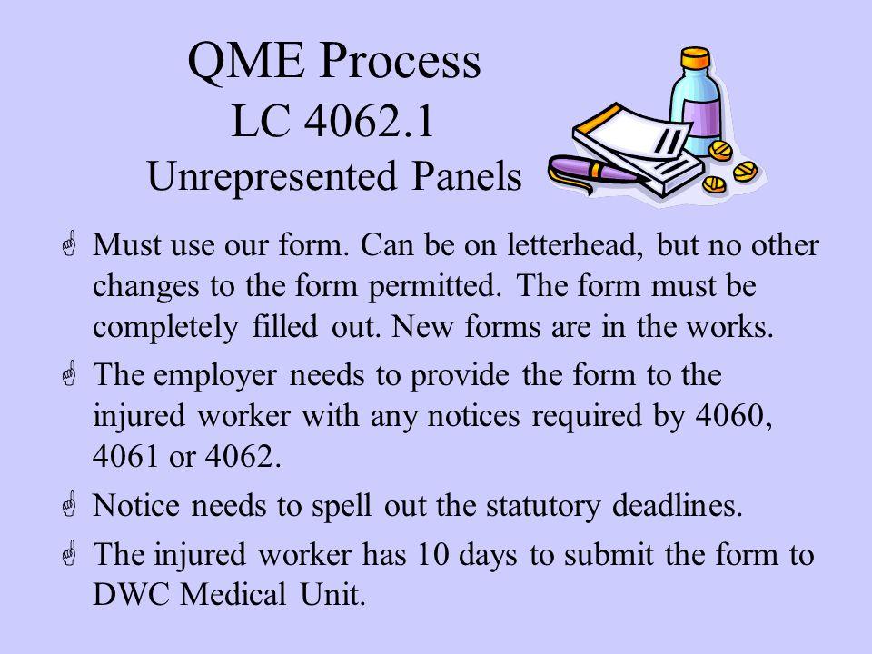 LC 4062.1 Unrepresented Panels - cont.