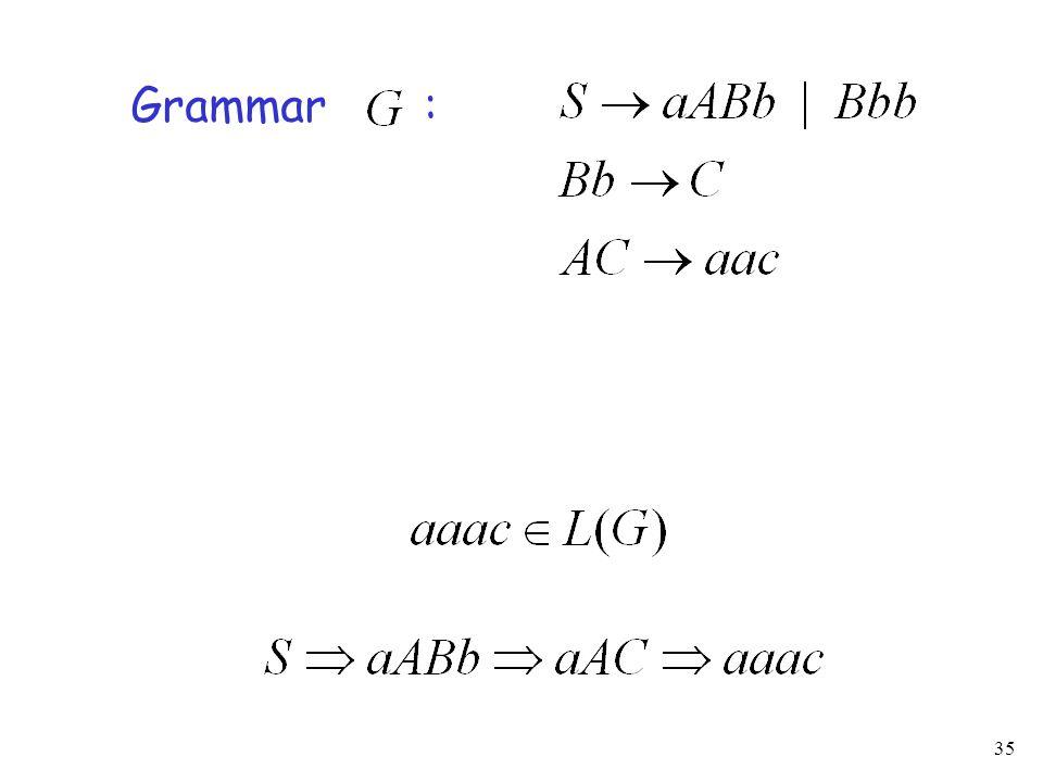 35 Grammar :
