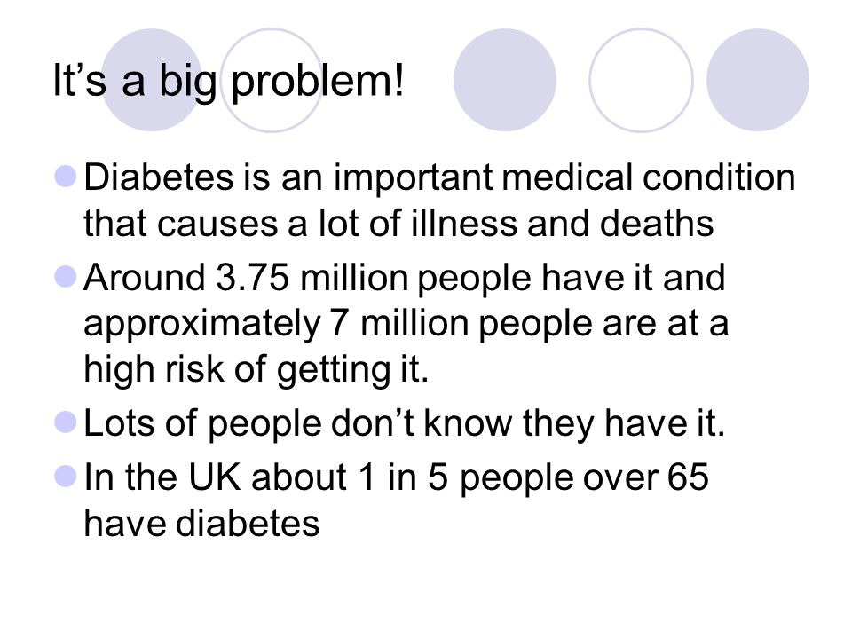 Treatment Depending on how severe your diabetes is when it is picked up Diet only; if you diabetes is 'mild', then you can have a trial of trying to control your sugars by addressing your diet, doing more exercise and making lifestyle changes Medications: If your diabetes is significant you will need to take medications