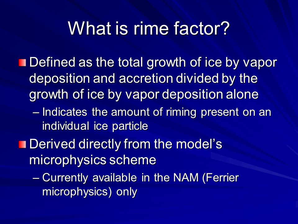 What is rime factor.