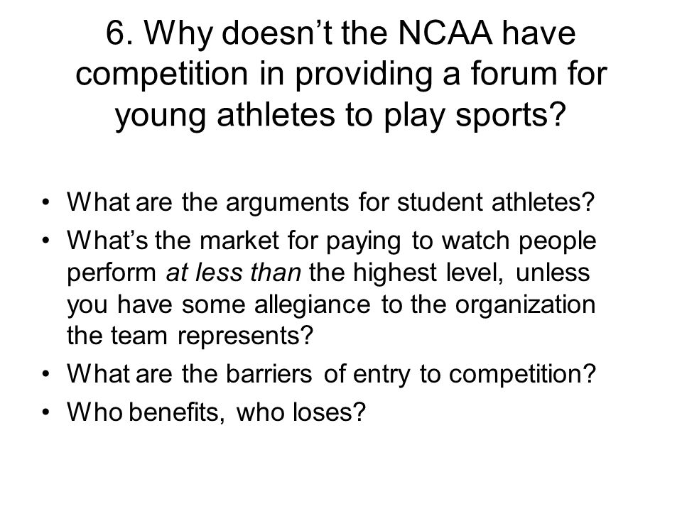 What are the arguments for student athletes.