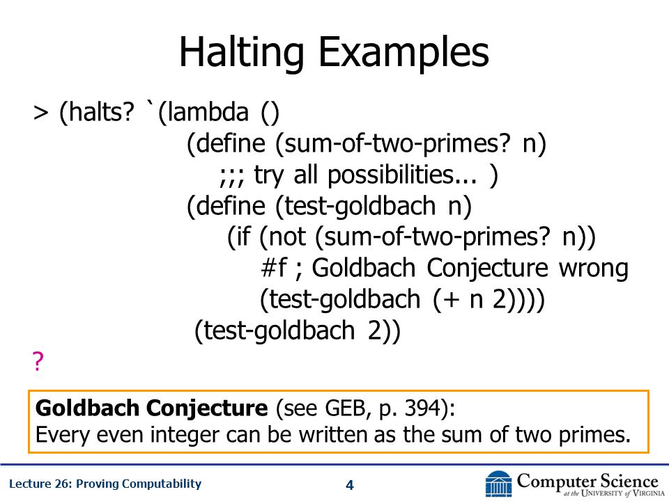 4 Lecture 26: Proving Computability Halting Examples > (halts.