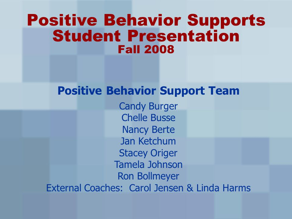 Features of PBS Clearly defined expectations Teaching component for behavior Reinforcing appropriate behavior Correcting problem behavior Interventions for challenging behaviors