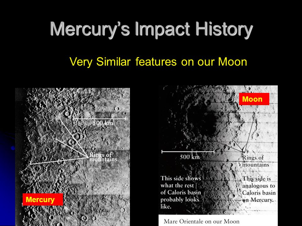 Mercury's plains Very Similar features on our Moon