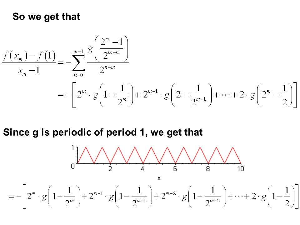 Consider the sequence of points. Examine. For values of n greater than or equal to m, for some positive whole numbers p and k, but as before,