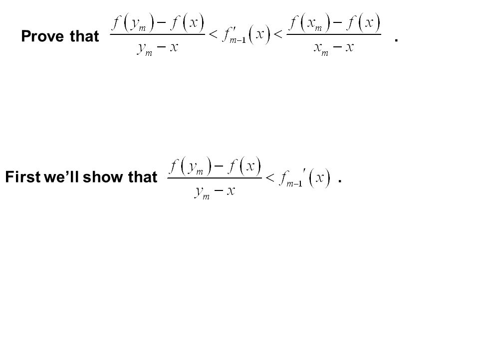 For, if x is not a dyadic rational, then show that for every value of m,. See Handout!