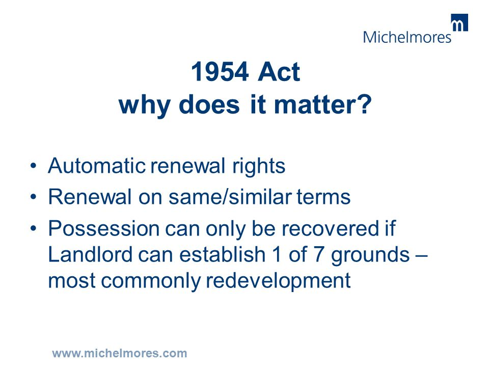 www.michelmores.com 1954 Act why does it matter.