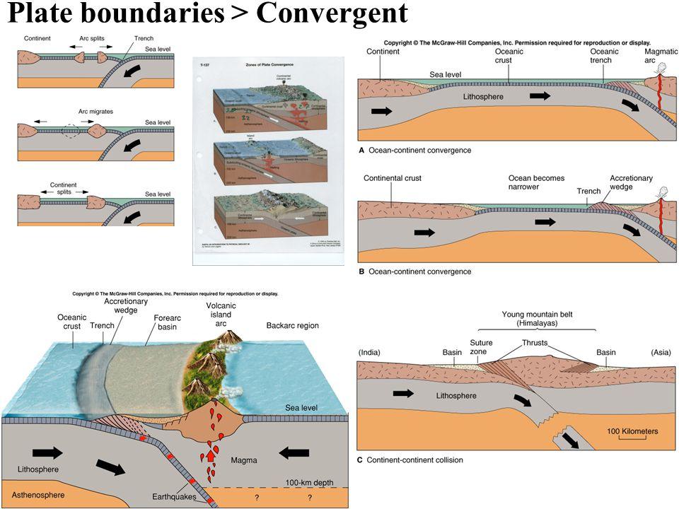 Plate boundaries > Convergent