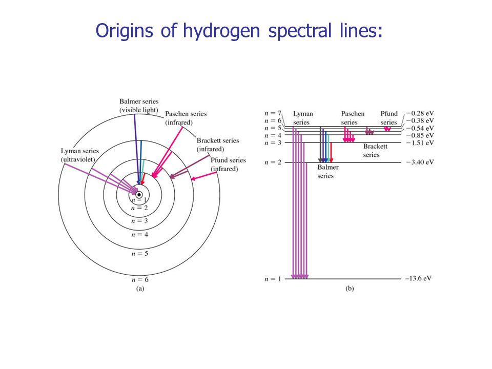 Origins of hydrogen spectral lines: