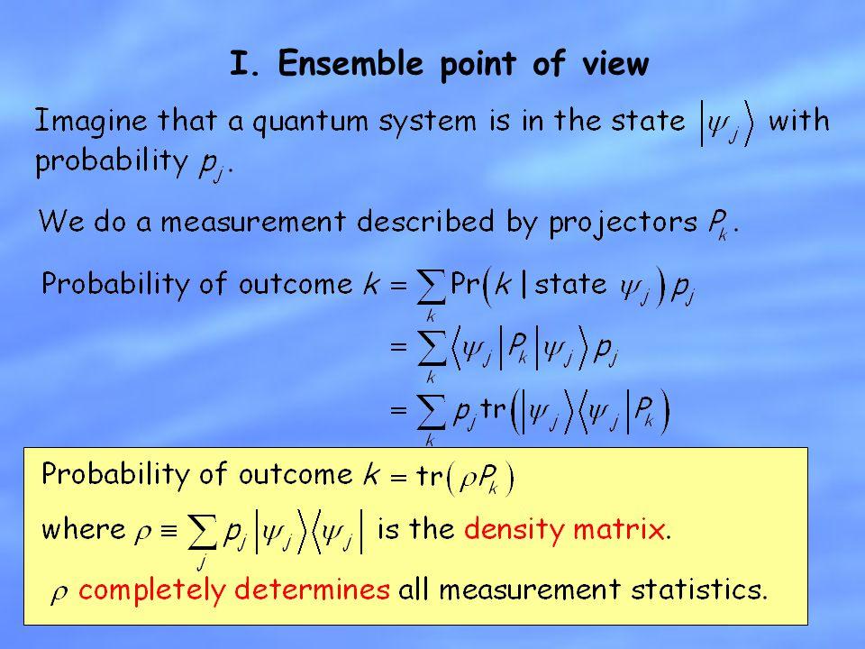 I. Ensemble point of view
