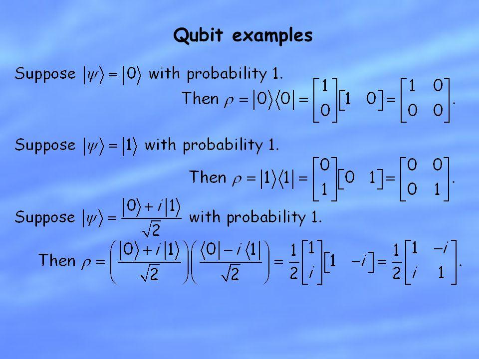 Qubit examples