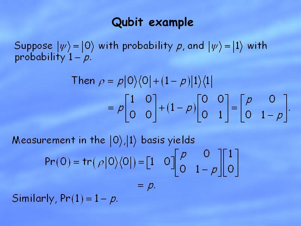 Qubit example