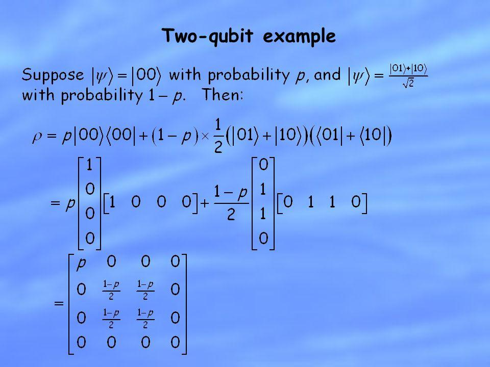 Two-qubit example