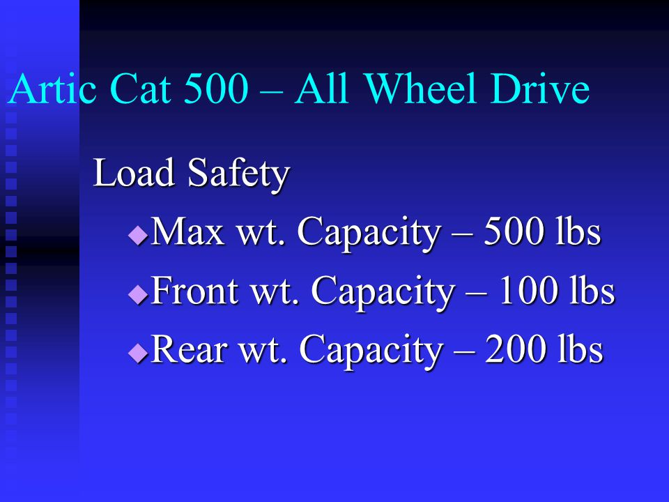 Artic Cat 500 – All Wheel Drive Starting Procedures and Use  Demonstration