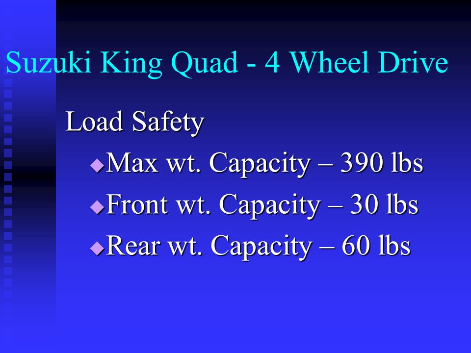 Suzuki King Quad - 4 Wheel Drive Starting Procedures and Use  Demonstration