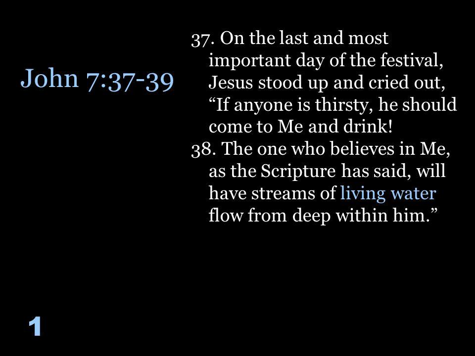 John 7:37-39 1 37.