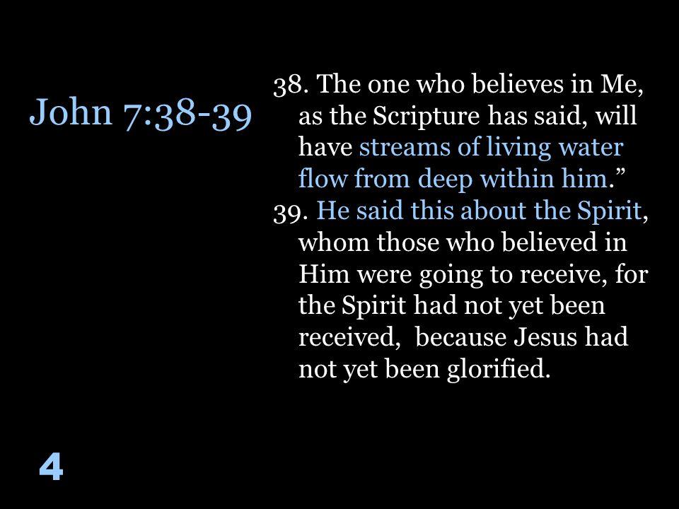 John 7:38-39 4 38.